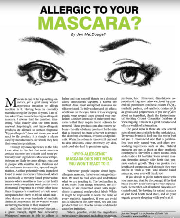 {Article} Allergic to Your Mascara?