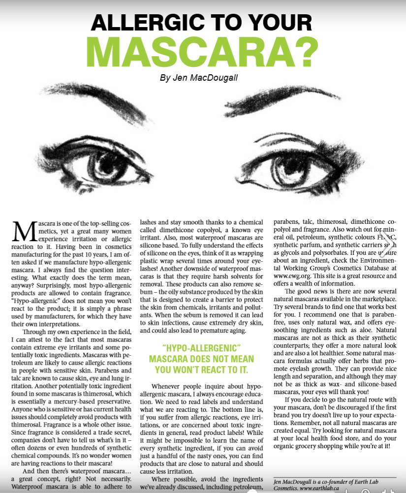 Are you Allergic to your Mascara